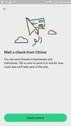 Mail a check from Chime